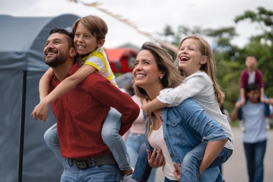 Family at the fair