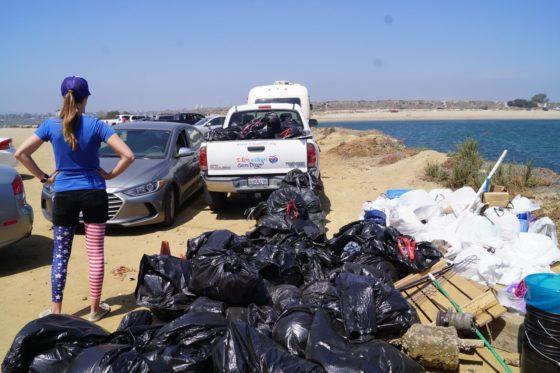 San Diego Beach Trash Collected