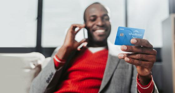 credit card man phone
