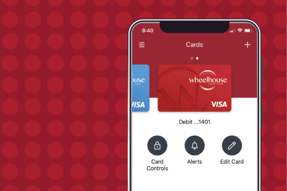 Card App Landing screen