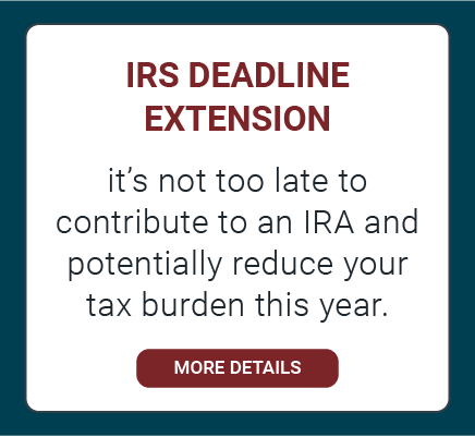 IRS Deadline Extension - IRA Contributions