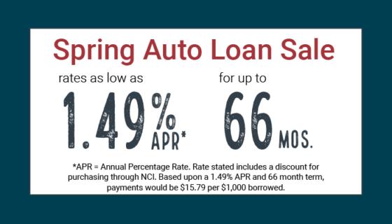 spring auto loan sale