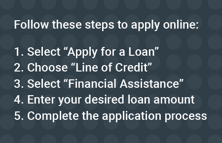 Steps to apply for relief line of credit