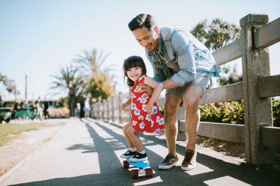 Father daughter skateboard