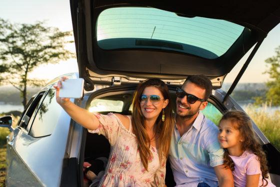 Family Car Selfie